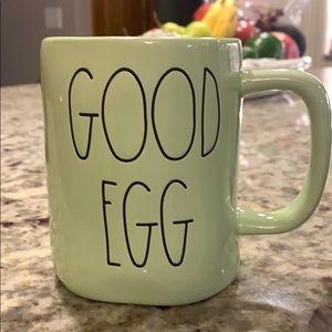 Rae Dunn Mint Green Good Egg Bad Egg Mug